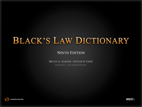 Blacks Law Dictionary 1